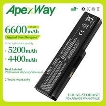 Apexway 6 셀 배터리 도시바 위성 프로 c660-1d0 C650 C660D L630 L670 U400 U500 C660 L640 T110 T115 T135 U400 U405