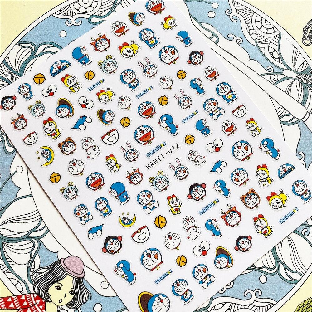 AliExpress - HANYI-072 HANYI-294 Cartoon anime character 3D Back glue Nail Art Stickers Decals Sliders Nail ornament decoration