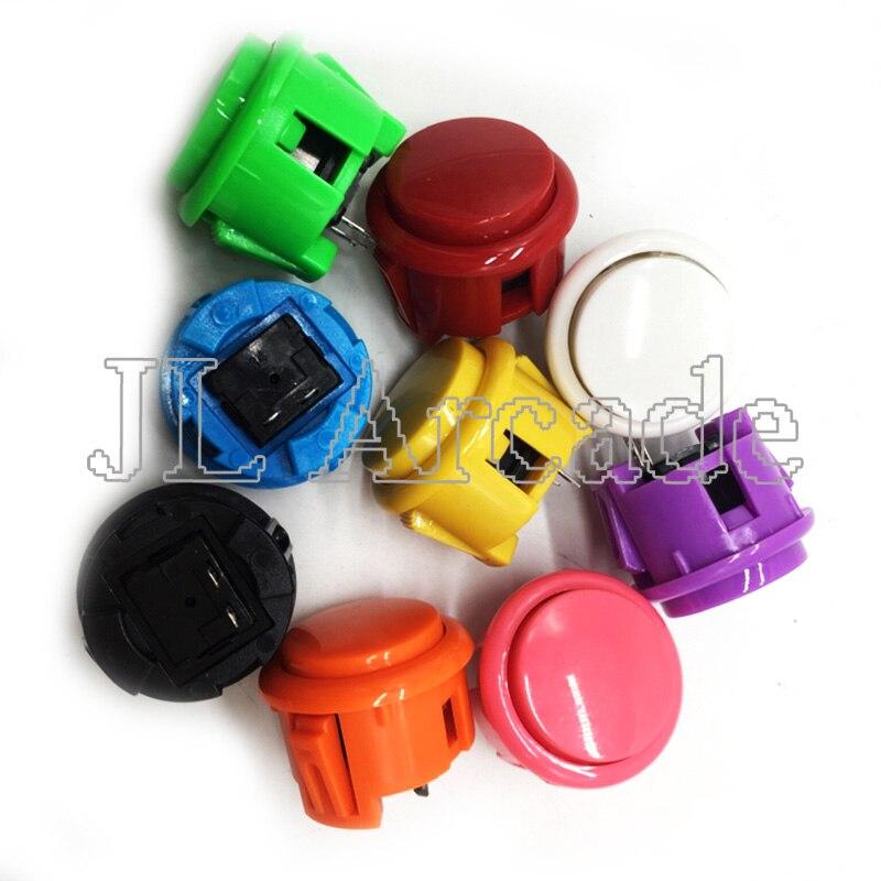 12 pçs arcada 30mm botão redondo cópia sanwa OBSF-30 botão jamae mame peças diy