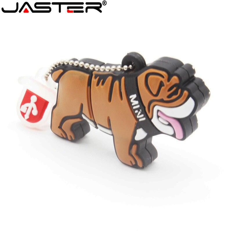 JASTER precioso mini Bulldog USB Flash Drive lindo viñetas de animales USB 2,0 gb/4gb/8gb/16gb/32gb/64gb capacidad Real lápiz de memoria USB