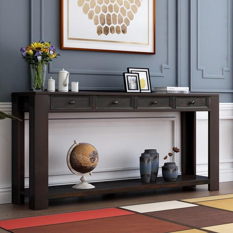 طاولة كونسول المطبخ ، خزانة ، منزل ، أريكة ، للمدخل ، المدخل ، مع أدراج تخزين ورف سفلي