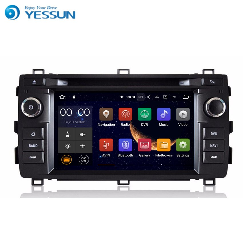 YESSUN Android radyo araba DVD OYNATICI Toyota Auris için 2013 ~ 2016 Stereo radyo multimedya GPS navigasyon WIFI ile Bluetooth AM /FM