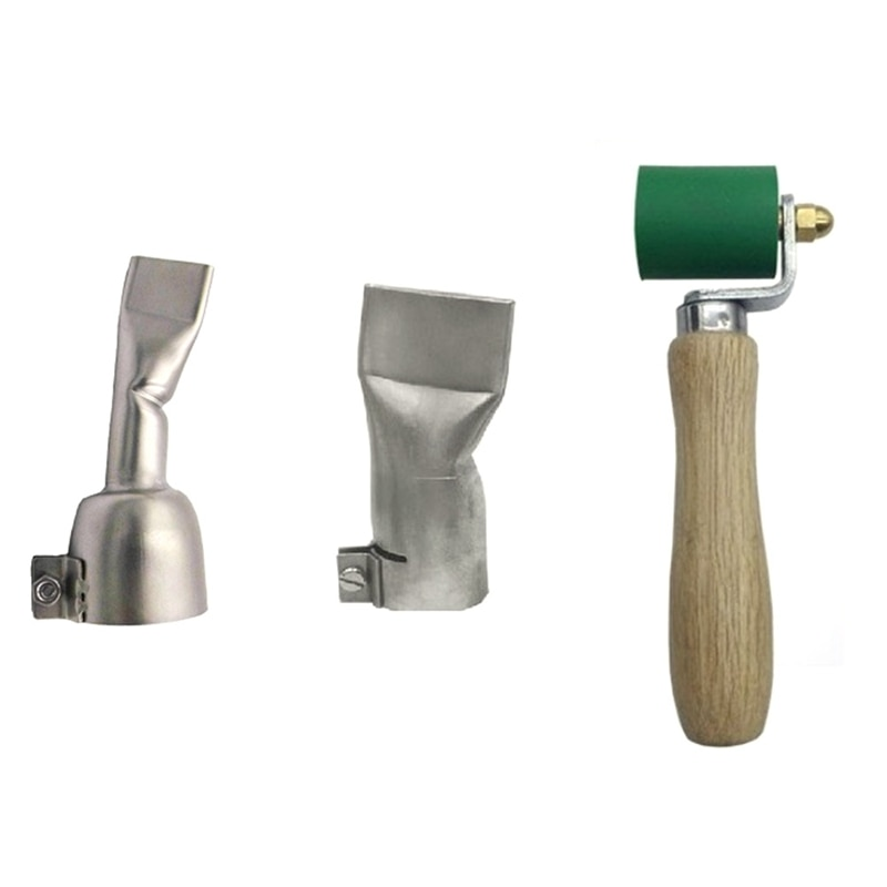 3Pc Set Welding Nozzle Welding Tips for PVC Flat Nozzle Plastic Welder Tips Roller for Hot Air Welding Soldering Supplie