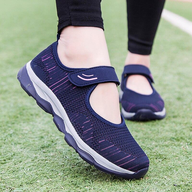 Летняя модная женская обувь на платформе, женская обувь, женская дышащая сетчатая повседневная спортивная обувь, женская обувь