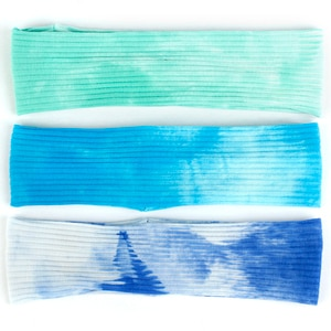 Baby Casual Rainbow Tie Dye Ribbed headbands Hair Accessories New Soft Summer Kids baby Childs Print head Wrap Turban Gifts