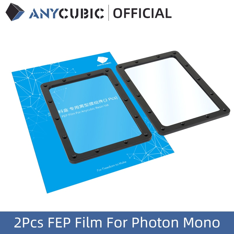 ANYCUBIC Photon Mono 2pcs FEP Film With Fixed Ring Resin LCD 3D printer 3D Printing Accessorise
