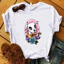 Vintage Japanese Animal Crossing Gaming Women T shirt Harajuku Aesthetic T-shirt Summer White Camiseta Tops Female Clothes