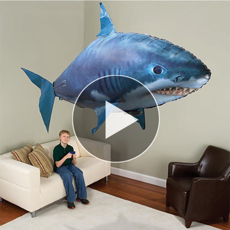 Remote Control Shark Toys Air Swimming Fish Infrared RC Flying Air Balloons Nemo Clown Fish Kids Toy