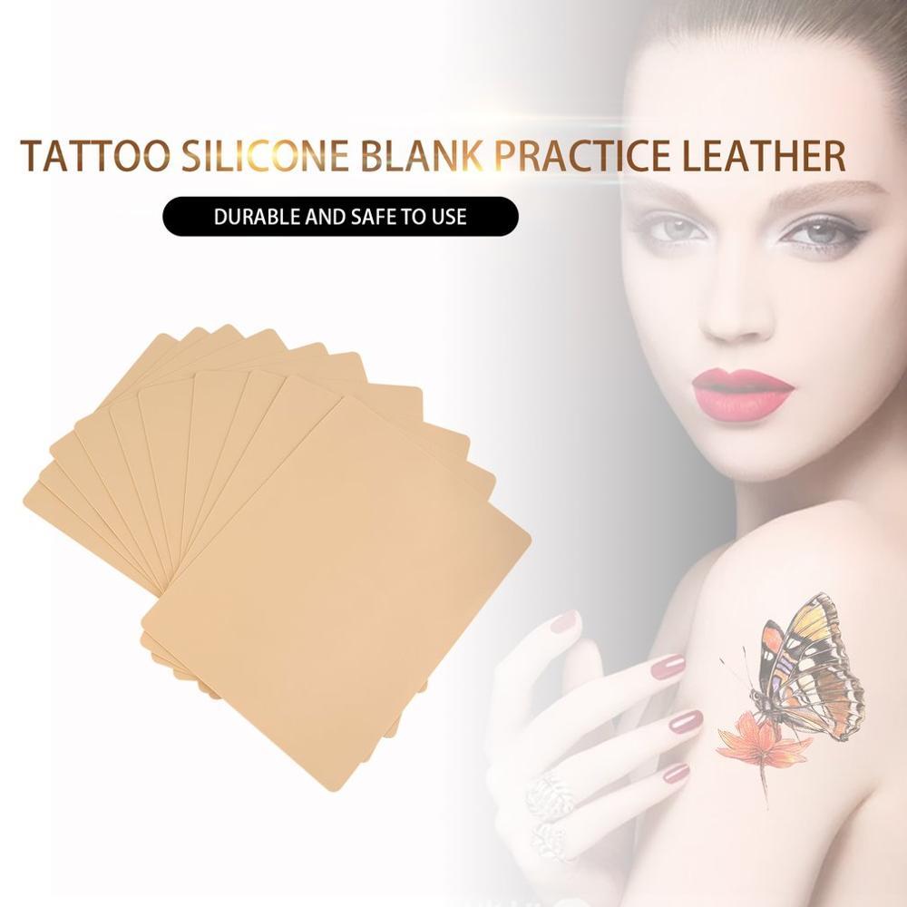 ¡Novedad! 10 Uds maquillaje permanente de alta calidad labios de cejas 20x15cm tatuaje en blanco practicar hoja de piel para Kit de suministro de agujas de máquina caliente