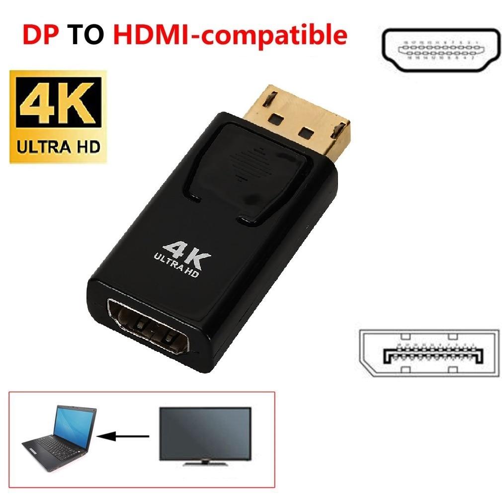 Adaptador DisplayPort a HDMI, 4K, DP a HDMI, 1080P, compatible con puerto...