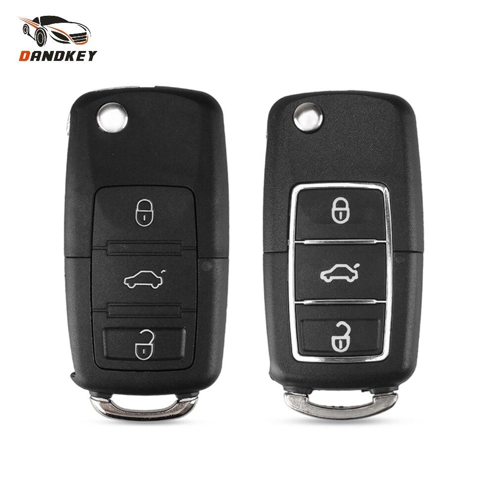 Dandkey 3 кнопки флип-чехол для ключей для Volkswagen Vw Jetta Golf Passat Beetle Polo Bora Fob Складной Дистанционный чехол для ключей