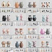 2 pieces ensemble Mignon Animaux Style Creatif Tenture Murale Pied Poupee Resine Artisanat Suspendus Jambe Poupee Elf Poupee Figurines Decoration De La Maison
