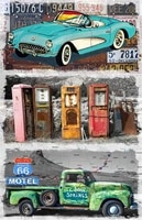 jeep retro bus bedroom decoration supercar decorative posters on the wall antique car decorations for room taxi plates garage