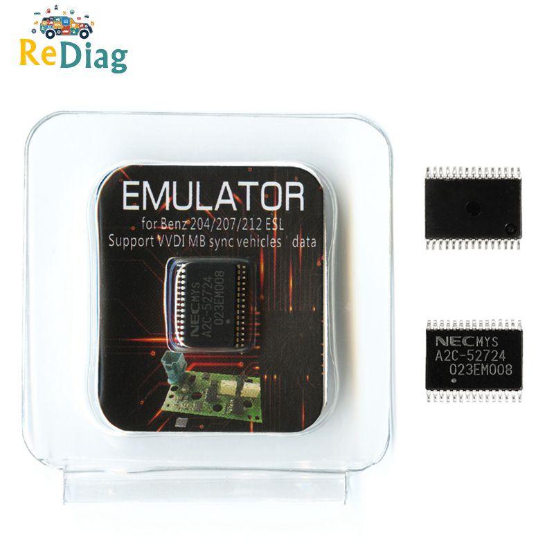 ELV ESL NEC emulador A2C 52724 A2C-52724 Chip para Mercedes para Benz W204 W207 W212 uso para VVDI MB o CGDI MB No es necesario renovar