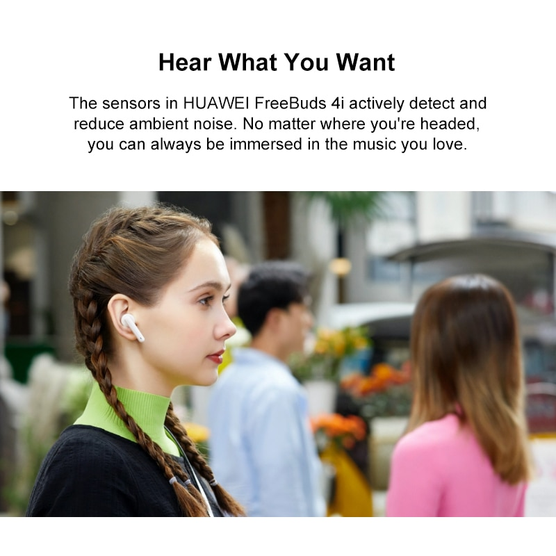 Original Huawei Freebuds 4i TWS  Wireless Active noise reduction ANC Wireless Pure Sound Quality dual-mic system  touch control