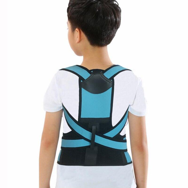 Volta postura corrector crianças coluna para trás postura elástica clavícula correção de postura crianças suporte para trás cintas cinto de volta