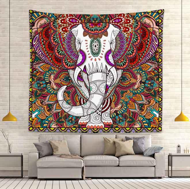 Индийский богемный слон гобелен хиппи медитация настенные подвесные гобелены для гостиной спальни для дома и общежития Декор
