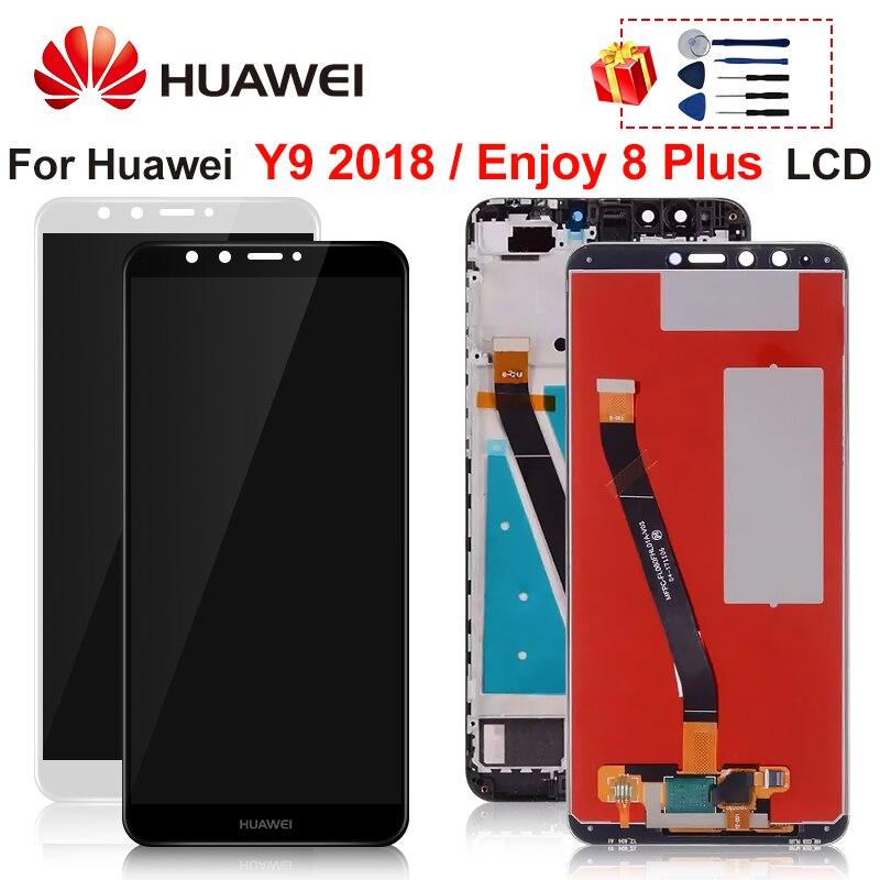 """Pantalla de 5,93 """"para Huawei Y9 2018 pantalla LCD de montaje de digitalizador con pantalla táctil para disfrutar 8 Plus FLA-L22 FLA-LX2 FLA-AL00 FLA-LA10"""