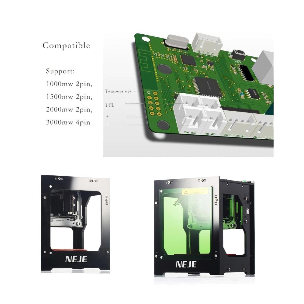 NEJE DK-8-KZ Ngraving Machine 3000mW Laser IIIb DIY Desktop Mini CNC Laser Engraver Cutter Engraving Wood Cutting Machine Router enlarge