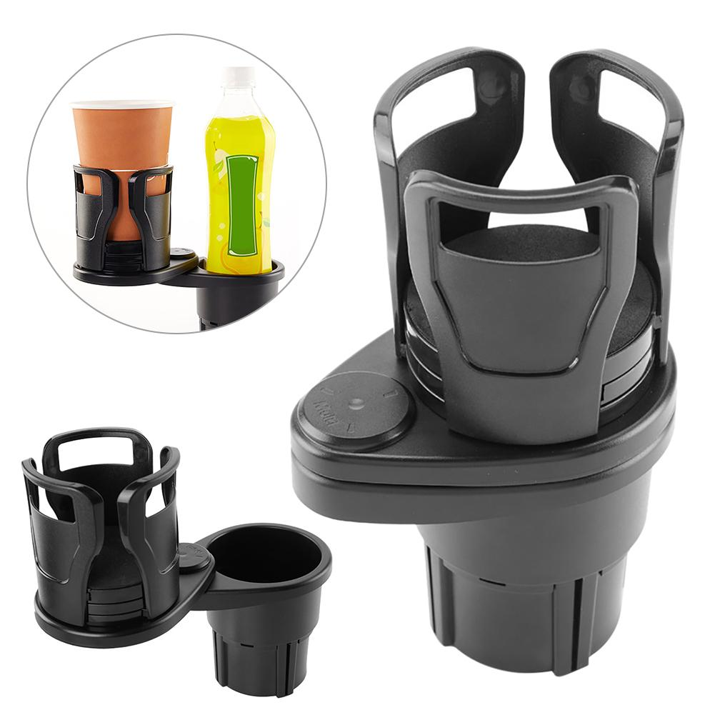 Car Drinking Bottle Holder 360 Degrees Rotatable Water Cup Holder Sunglasses Phone Organizer Storage
