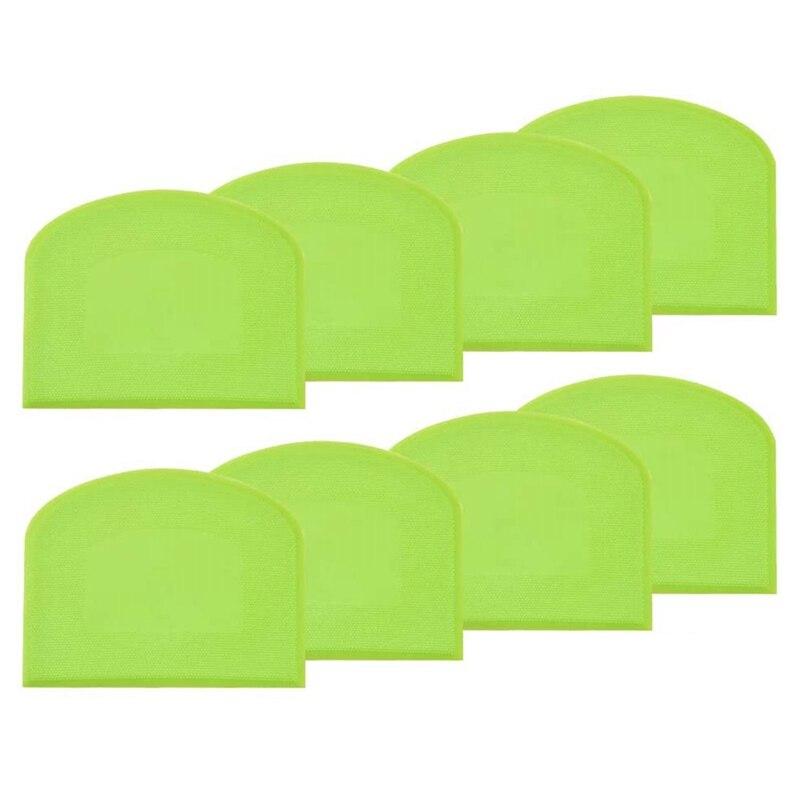 De plástico de espátula para masa Flexible de raspador verde 8 piezas-Multi-función espátula para masa-herramienta para hornear pasteles
