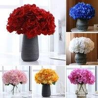 1pc colorful artificial flowers hydrangea wedding fake flowers arrangement office wedding home party decor