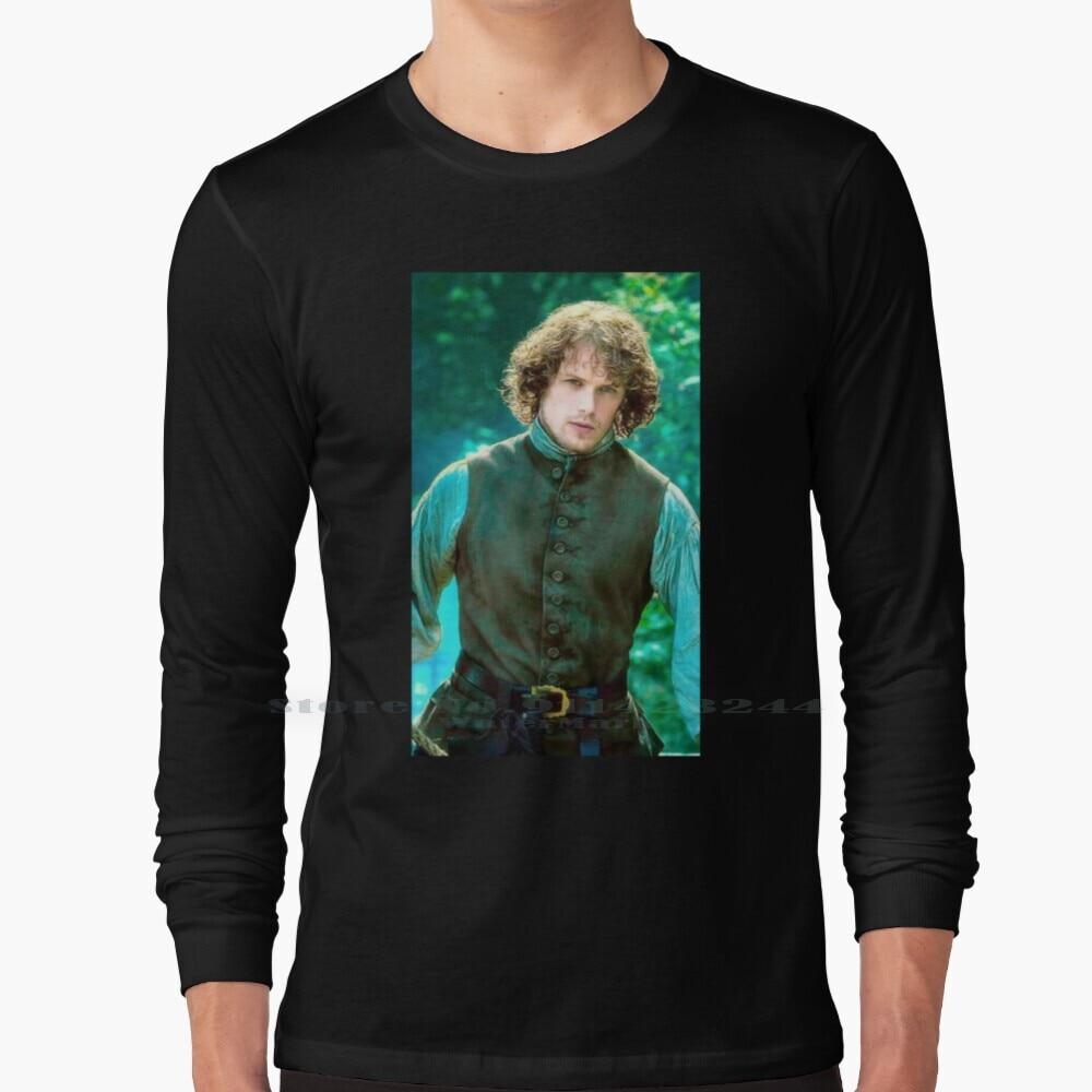 Sam Heughan Long Sleeve T Shirt Tee Sam Heughan Actor Hollywood Caitriona Balfe James Fraser Jamie And Claire Outlander Show