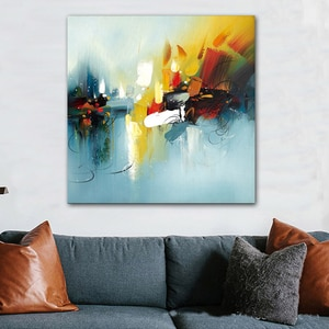 Handmade Abstract Oil Painting on Canvas Hand-painted Wall Art Poster and Print Wall Picture for Home Living Room Decor