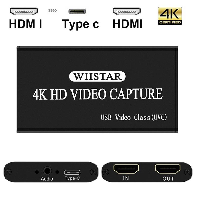 Видео Захват HDMI к USB Type-C 1080P HD видео Захват карта для ТВ ПК PS4 игры в прямом эфире для Windows Linux Os