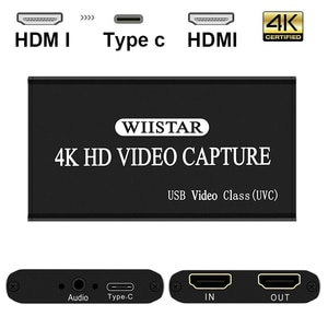 Video Capture Card USB 2.0 HDMI TYPE-C Video Grabber Record Box for  PS4 Game DVD Camcorder HD Camera Recording Live Streaming