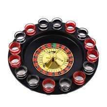 Bar Lustige Werkzeuge Russland Plattenspieler Schuss Glas Trinken Spiel 16 Schuss Gläser Set Bar Swivel Platte
