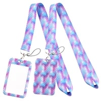 lt791 mermaid neck strap lanyards keychain badge holder id card pass hang rope lariat lanyard key ring gifts accessories