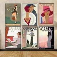 Toile de peinture moderne a la mode  decor de maison  image retro Vintage  Art mural  affiches abstraites et imprimes pour salon sans cadre