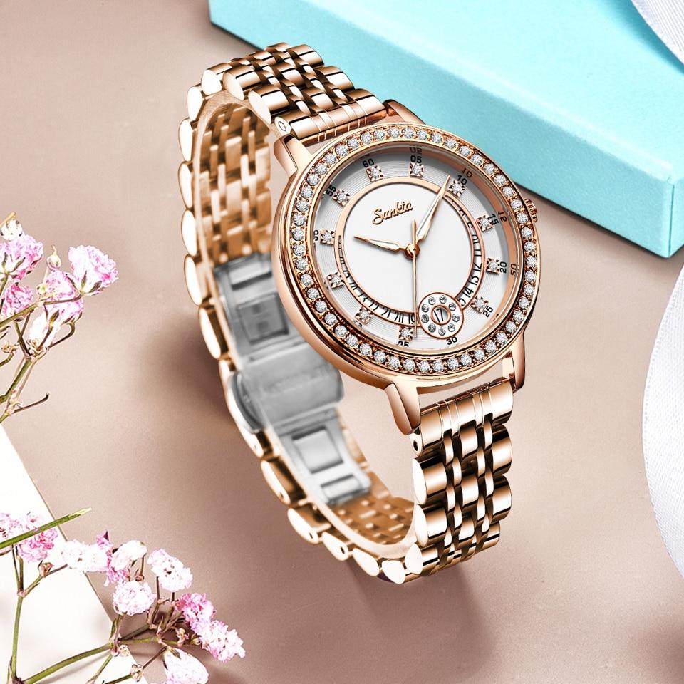 SUNKTA Top Luxury Brand Ladies Gold Watch Fashion Creative Diamond Women Wrist Watches Casual Dress Clocks Relogio Feminino 2020 enlarge