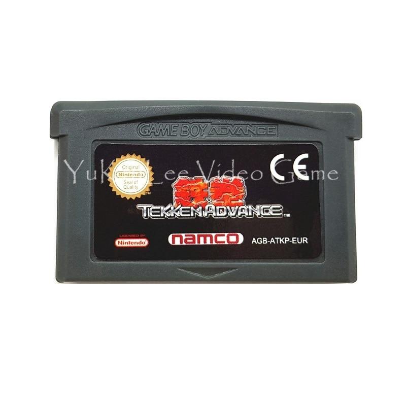 Cartão do cartucho do jogo de vídeo do avanço de tekken para nintendo gba series consoles etiqueta da ue