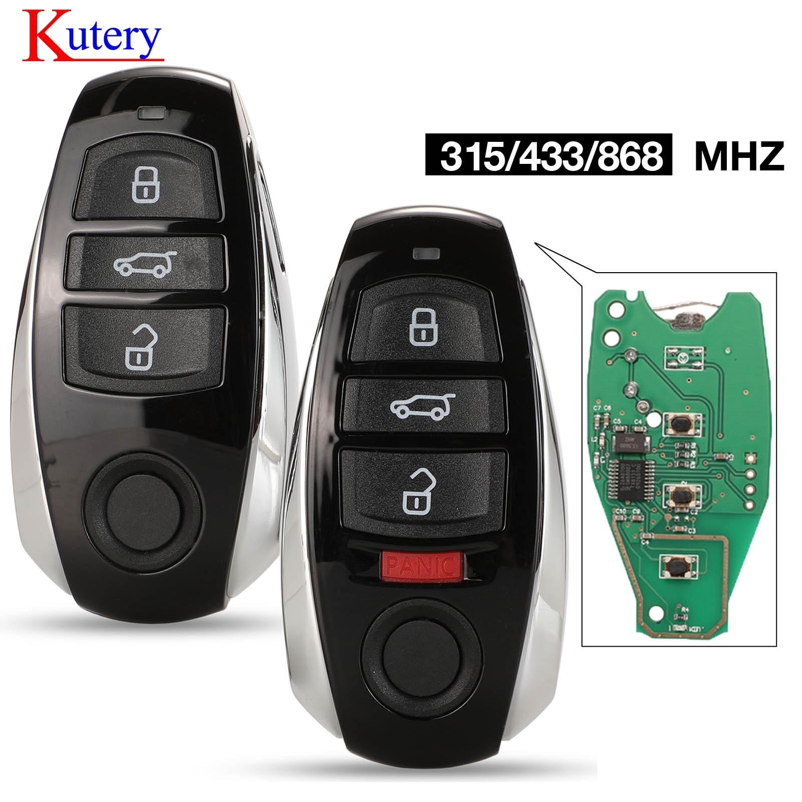 Kuery 315/ 433/ 868MHz ID46/ 7953 Chip 3 Botón de reemplazo de tarjeta inteligente llave Fob remoto para Volkswagen para Touareg 2010-2014/