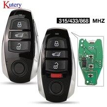 Kuterie 315/ 433/ 868MHz ID46/ 7953 puce 3 boutons remplacement carte à puce télécommande porte-clés pour Volkswagen pour Touareg 2010-2014/
