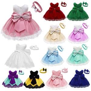 Girls First Birthday Dress for Newborn Baby Toddler Princess Carnival Dresses Kids Girl Party Prom Gown Vestidos Dress Girl