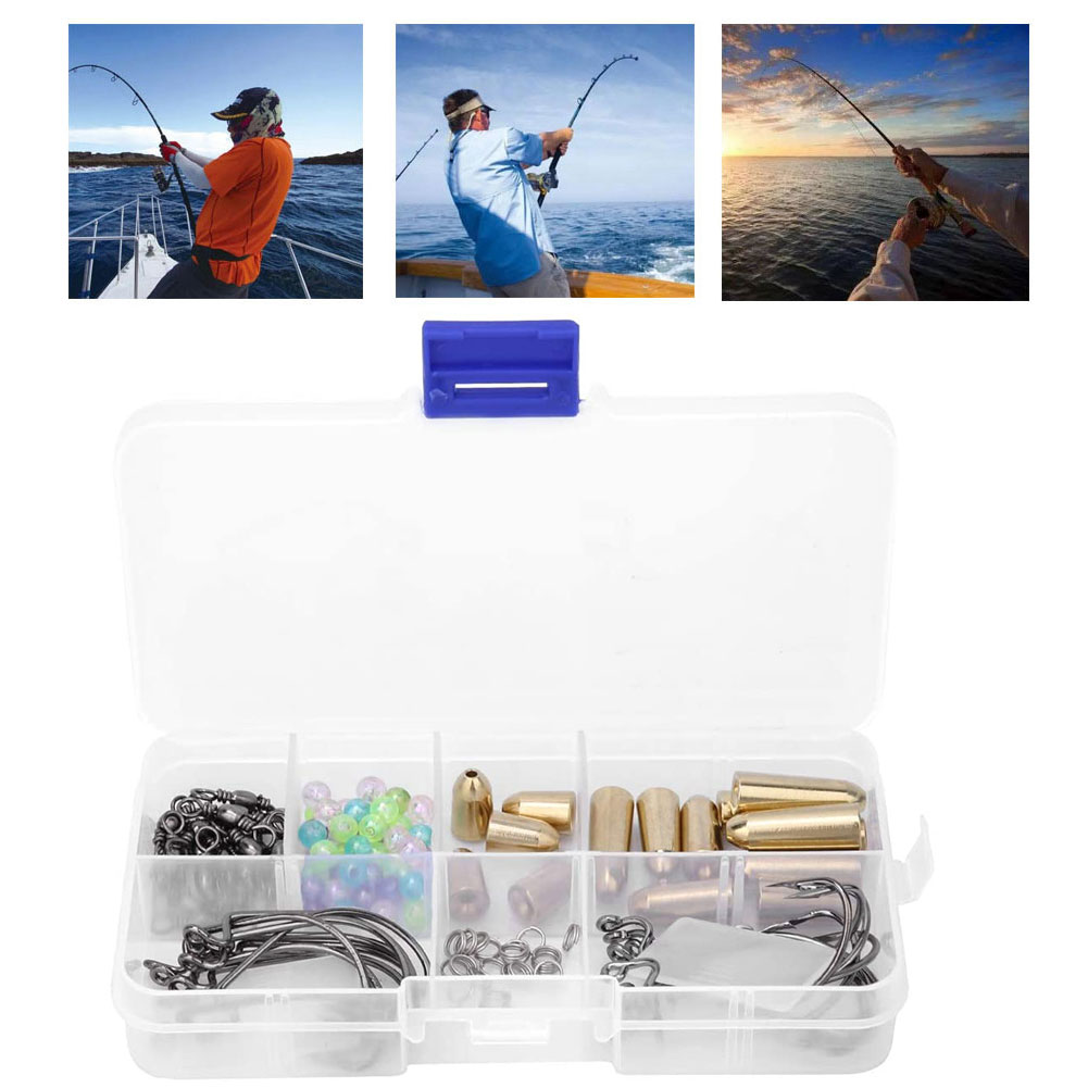 Fishing Accessories Kit Fishing Lure Mixed Set Tackle Bait Set For Sea Freshwater Fishing Style2 115PCS Fishing Accessories Kit enlarge