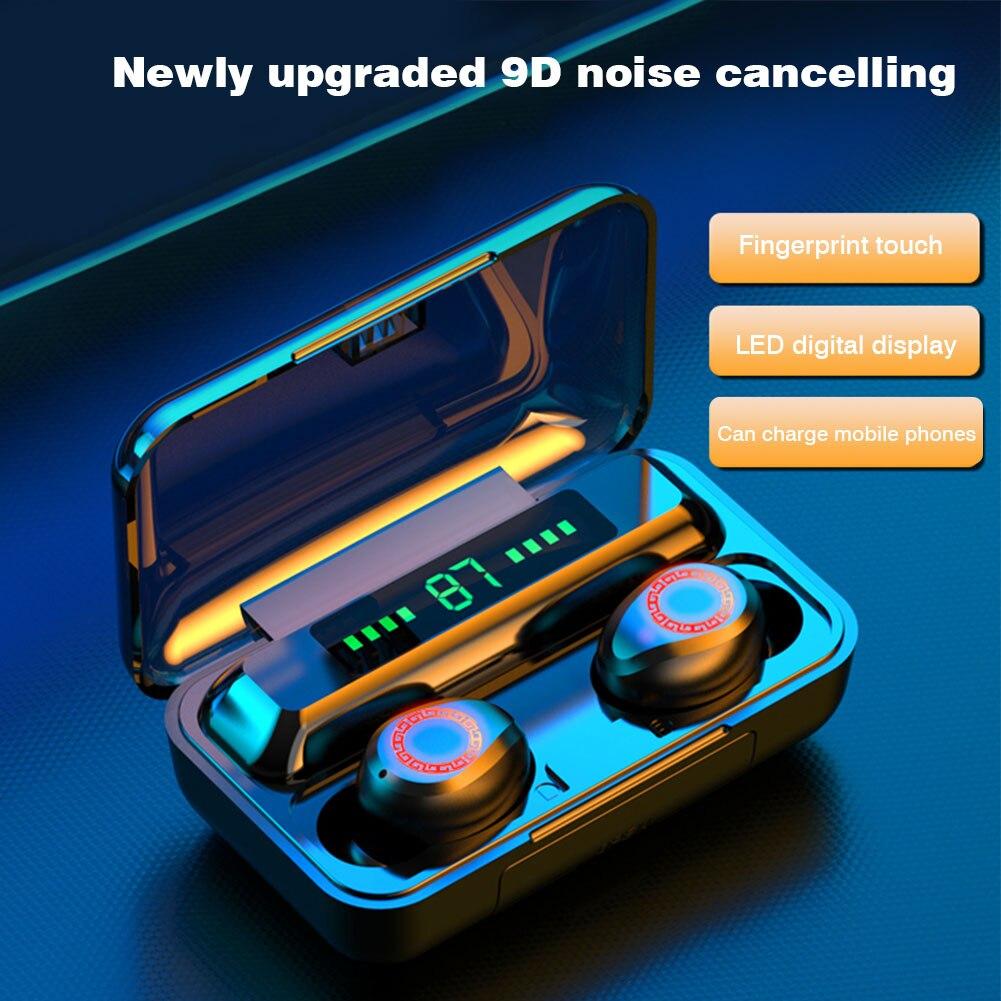 Fone de Ouvido sem Fio Fones de Ouvido com Cancelamento de Ruído Fone de Ouvido Ipx7 à Prova Bluetooth In-ear Jogos Dwaterproof Água Esportes Universal 5.0