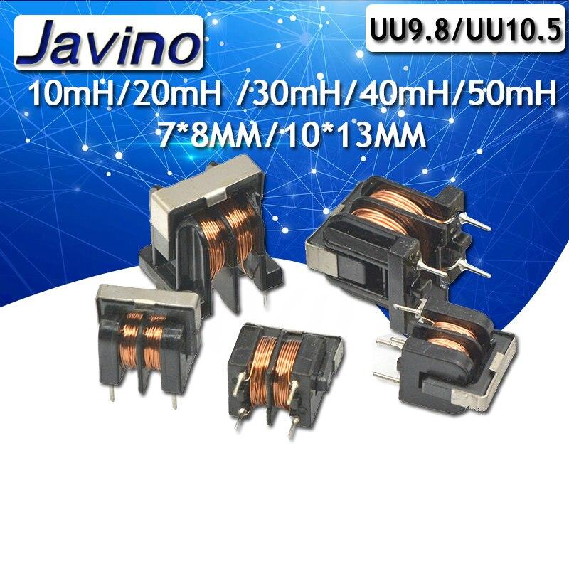 5 шт./лот UU9.8 UF10.5 общий режим дроссель индуктор 10mH 20mH 30mH 40mH 50mH для фильтра Шаг 7*8 мм 10x13мм