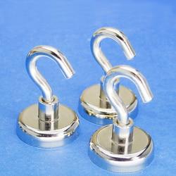 1 teile/los NdFeB Haushalt Metall Magnet Magnetische Haken Eisen Starken Haken Super Angeln Magnet Beständig Sucker