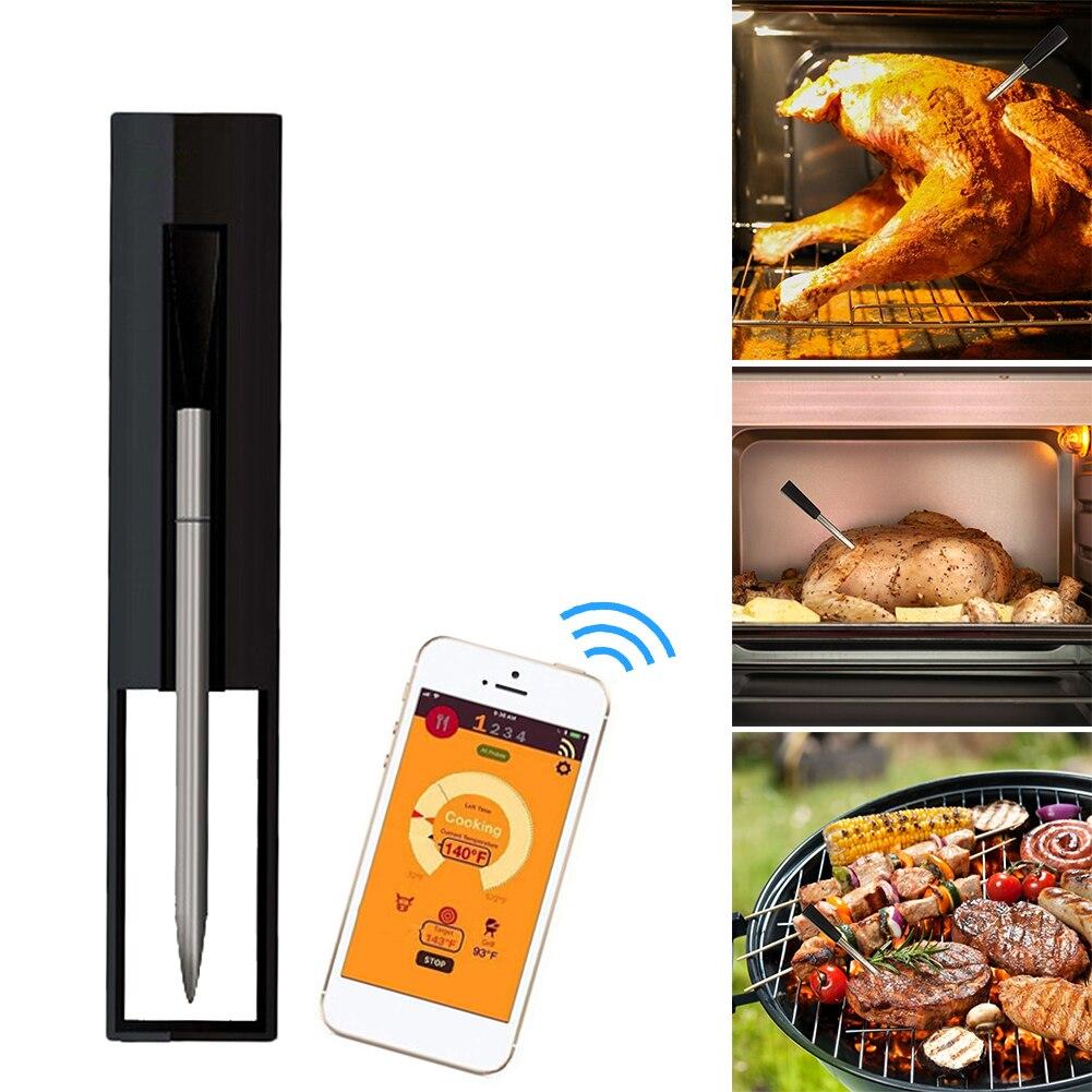 جديد لاسلكي ميزان حرارة طعام اللحم ستيك ميزان الحرارة ل فرن شواية باربيكيو المشواة المطبخ الذكية الرقمية بلوتوث الشواء اكسسوارات