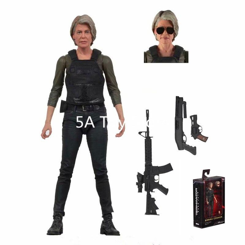 Juguete NECA Terminator oscuro destino Sarah Connor PVC figura de acción de juguete de modelos coleccionables