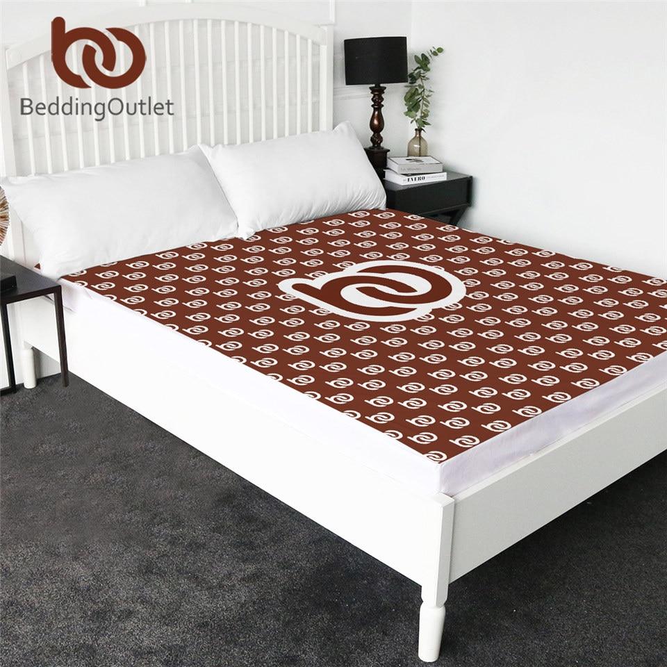 BeddingOutlet Customized Bed Sheet Print on Demand Microfiber Fitted Sheet Queen Custom Made Mattress Cover DIY Bedding 1-Piece