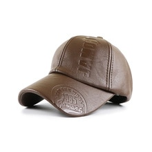 New Style Leather Men's Autumn And Winter Baseball Caps Couple Street Shooting Caps Fashion All-matc