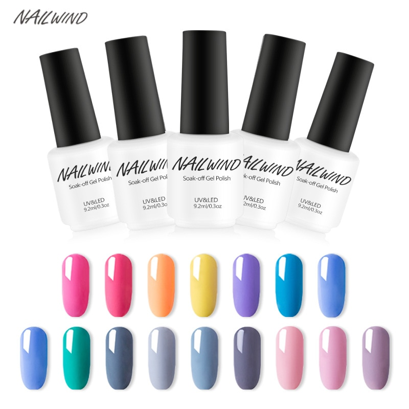 Nailwind 58 cores multi-cor profissional verniz de verniz de unha cor sólida decorativo perolescente longa duração cola de unhas 9ml
