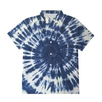 ifpd tie dye new summer short sleeve button shirts casual loose oversize 3d print fashion hot sale streetwear shirt tops clothes