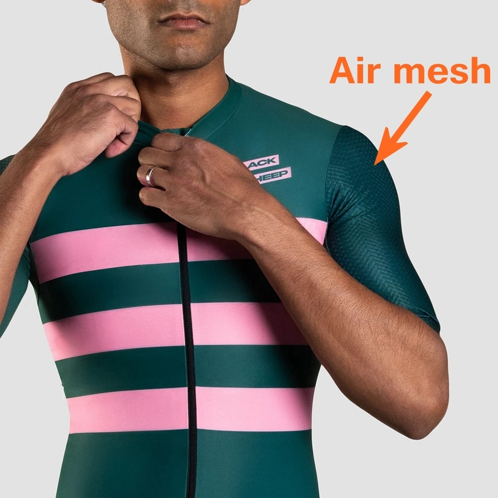 Team negro sheep-Camiseta de ciclismo para hombre, novedad del 2020 en camiseta a rayas de estilo para montar en bicicleta, Camiseta corta de malla neumática, sin mangas para hombre verano