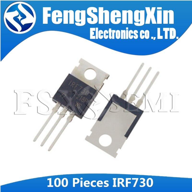 100 قطعة/الوحدة IRF730PBF IRF730 إلى-220 الطاقة MOSFET